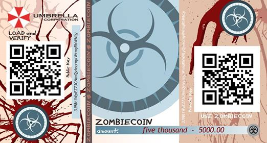Zombie paper currency - Zombiecoin