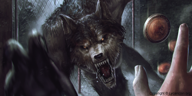 Lycancoin werewolf attacking screen
