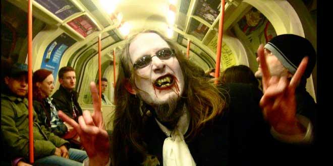 Vampire riding the Glasgow subway, image courtesy of https://www.flickr.com/photos/angusmcdiarmid/5130222686/in/photostream/
