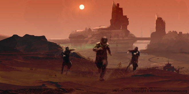 Running from zombies on Mars