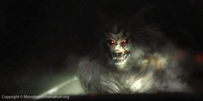 Eerily similar to other werewolf sightings, the witnesses described the creature as having a muscular structure with an oversized, wolf-like head topped with two large pointed ears.