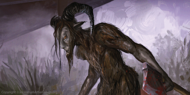 Interestingly the Pope Lick Monster in Kentucky shares a nickname also used to describe similarly horned humanoid cryptids across the U.S. - the Goat Man.